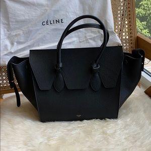 Celine black tie knot shopper tote